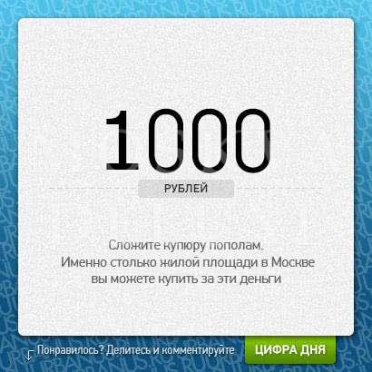 Если квадрантный метр стоит 200.000 рублей, то это пол, выложенный свернутыми пополам тысячными банкнотами