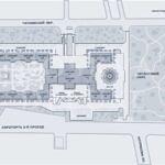 схема расположения всех секций здания жилого комплекса Триумф Палас