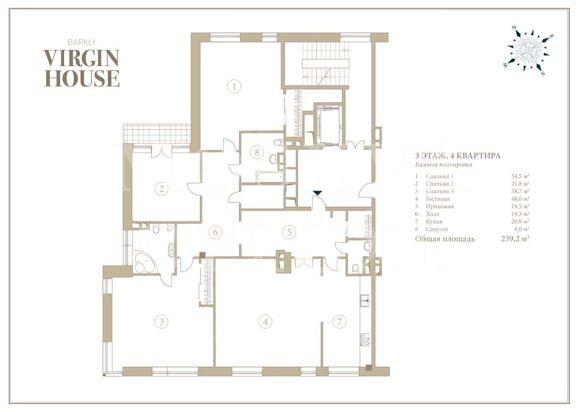 Планировка квартир Barkli Virgin House