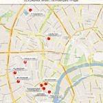 карта возведения новых элитных домов в районе Остоженки, Арбата и Патриарших прудов