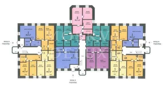 Планировки квартиры вЖК«Нагорный»
