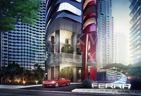 Небоскреб Ferrari Pininfarina в Сингапуре, небоскреб Ferra от итальянской компании Pininfarina