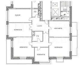 Квартира 220 кв.м. в ЖК «Дом на Покровском бульваре» за 2,64 млн $