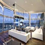 Лондонский пентхаус за 3300$ в день - интерьер минималистической гостиной, фото