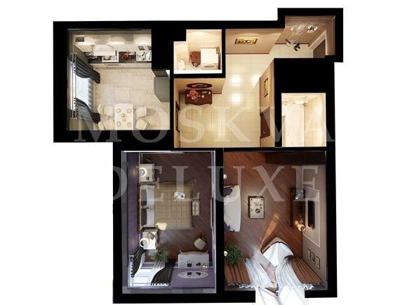 Планировка двухкомнатной квартиры, ЖК Лосиный остров