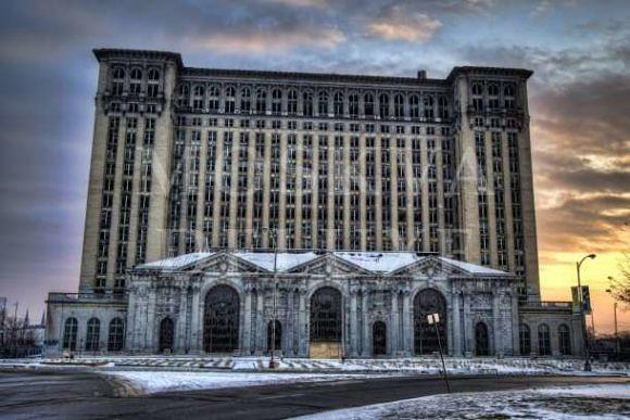 Michigan Central Station, Детройт, США - 10 заброшенных небоскребов мира