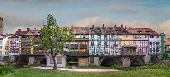 Жилые мосты - Лавочников Кремербрюке в Эрфурте