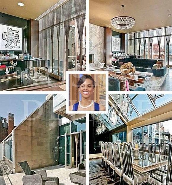 Дома знаменитостей, недвижимость звезд шоу-бизнеса, Алиша Киз. Апартаменты на Манхеттене, Нью-Йорк