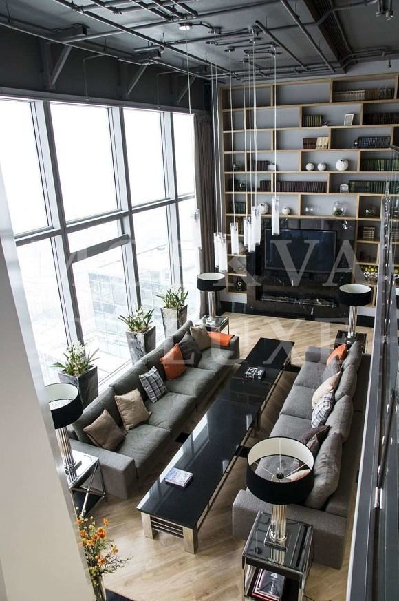 Двухуровневая квартира в Москва-Сити, бюро Altercasa