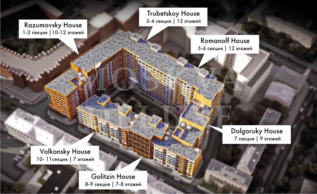 План комплекса Баррин Хаус, план корпусов Barrin House