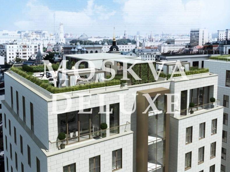 Фото крыши фасада Жилого Комплекса Полянка 44