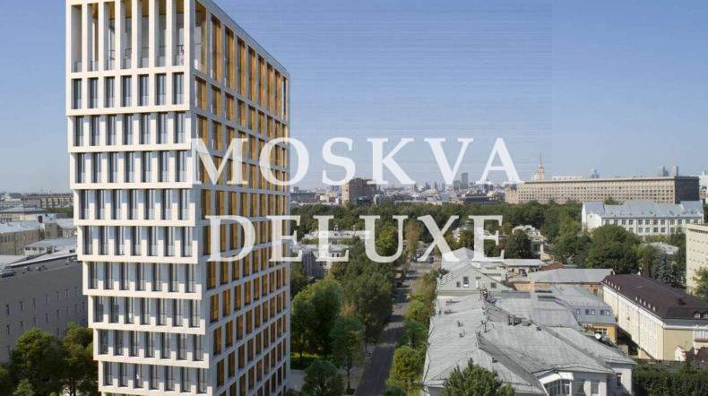 Фото фасада жилого комплекса А White Khamovniki