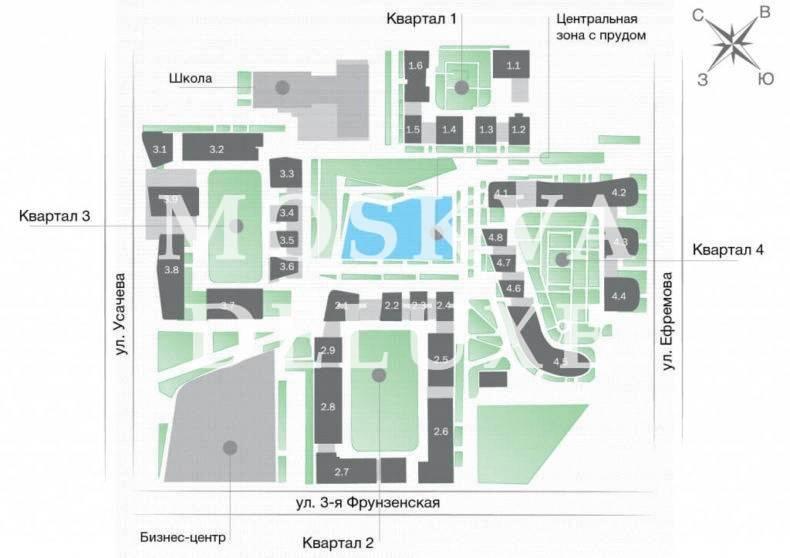 Фото расположения этажа жилого комплекса Садовые кварталы